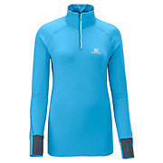 Salomon Womens Trail Runner Warm LS Zip Tee AW13